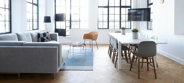 Modern office furniture.