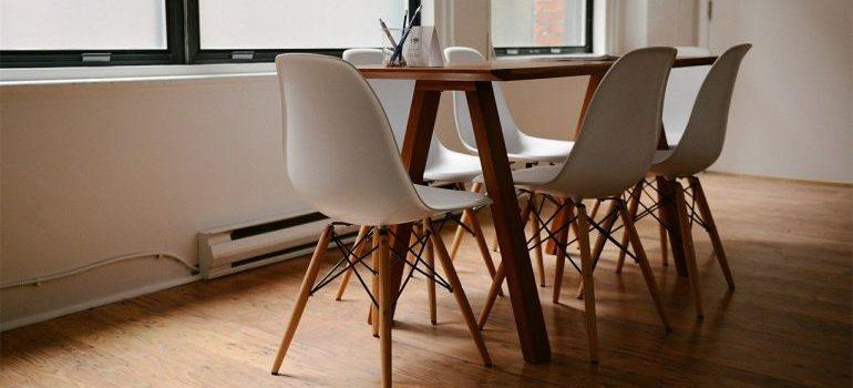 Modern dining room furniture.