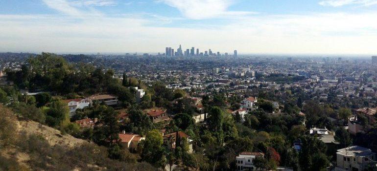 Skyline of Los Angeles.