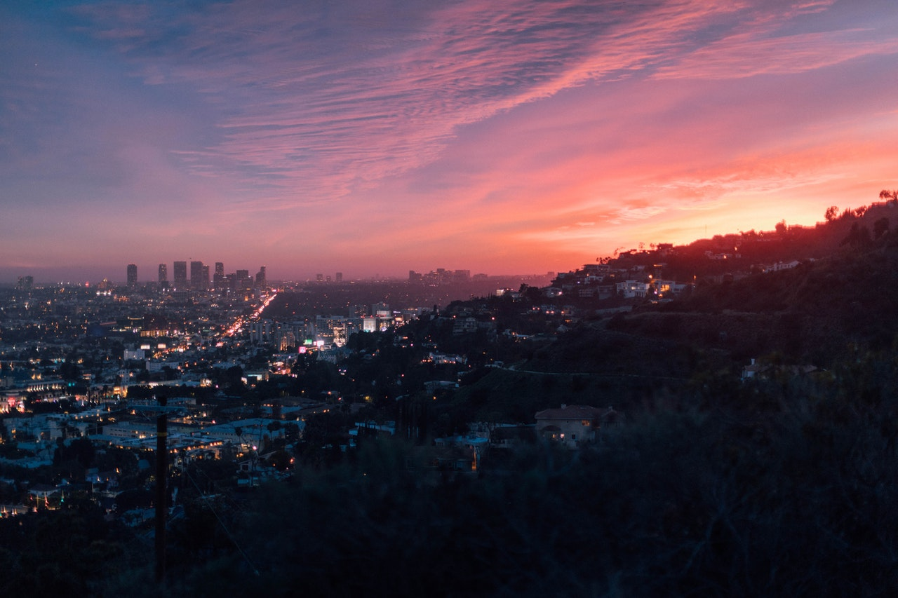 a panoramic view of the city of Los Angeles
