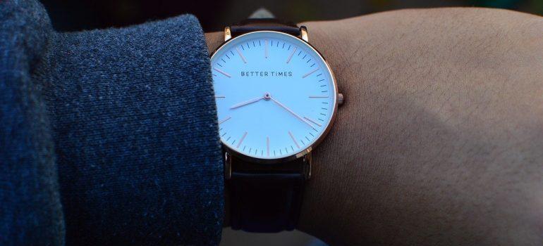 A man wearing a wristwatch.