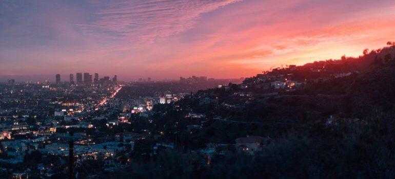 A view at Los Angeles