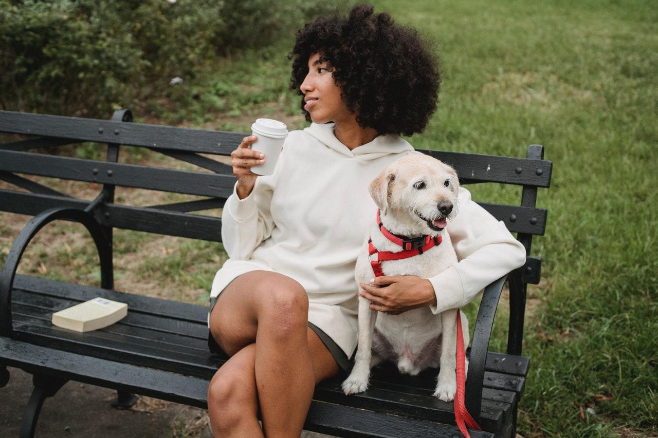 A woman enjoying Calabasas after moving from Burbank to Calabasas with pets.