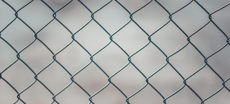 a chain linked fence